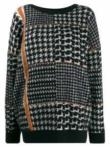 Gentry Portofino oversized houndstooth jumper - Black