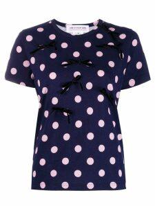 Comme Des Garçons Girl polka dot T-shirt - Blue