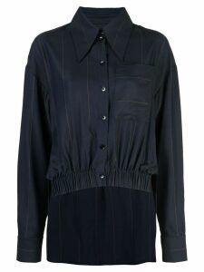 Tibi twill stripe double layer shirt jacket - Blue