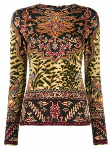 Etro printed long sleeve top - Black