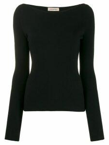 Gentry Portofino fitted boat neck pullover - Black
