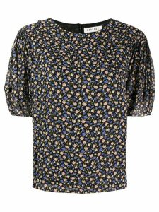 Masscob floral print short-sleeved blouse - Black