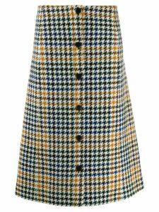 McQ Alexander McQueen houndstooth skirt - NEUTRALS