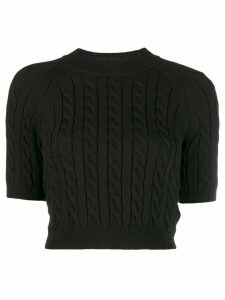 Alexander Wang cable-knit sweater - Black