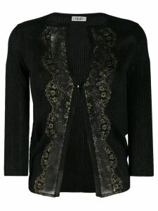 LIU JO lace detail cardigan - Black