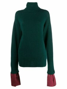 Jejia oversized layered-effect jumper - Green