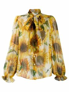 Dolce & Gabbana sunflower print blouse - Yellow