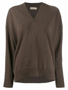 Gentry Portofino rhinestone-embellished jumper - Brown