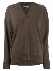 Gentry Portofino rhinestone-embellished jumper - Brown