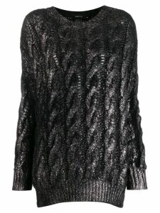 Avant Toi cashmere cable-knit sweater - Black