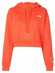 Heron Preston Fire Crop hoodie - ORANGE