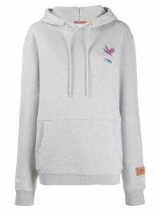 Heron Preston logo embroidered hoodie - Grey