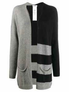 LIU JO striped knit cardigan - Black