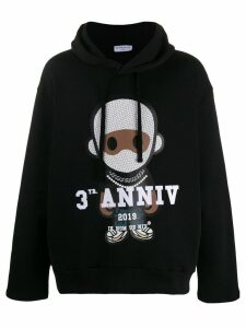 Ih Nom Uh Nit signature print hoodie - Black