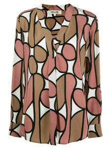 Diane von Furstenberg Sanorah v-neck blouse - NEUTRALS