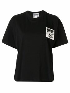 Moschino teddy logo patch T-shirt - Black