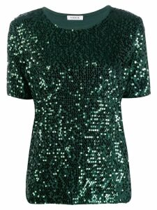 P.A.R.O.S.H. sequin embroidered T-shirt - Green