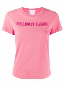 Helmut Lang embroidered logo t-shirt - PINK