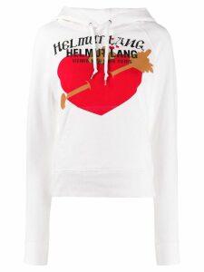 Helmut Lang print hoodie - White