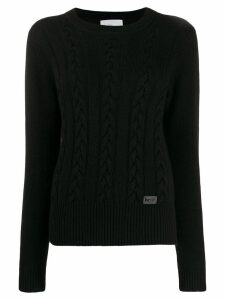 be blumarine cable knit jumper - Black