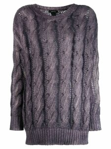 Avant Toi cashmere cable knit sweater - PURPLE