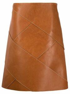 Bottega Veneta intrecciato weave midi skirt - Brown
