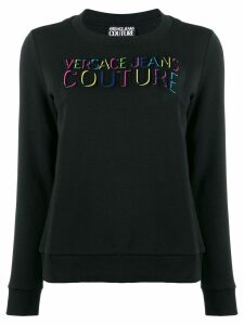 Versace Jeans Couture embossed logo sweatshirt - Black