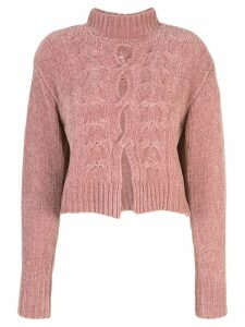 Cushnie cut out jumper - PINK