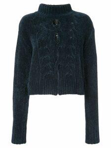 Cushnie textured cut out jumper - Blue