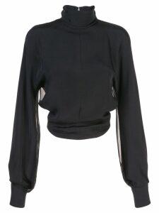 Cushnie sheer panel blouse - Black