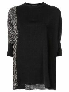 Anteprima rayon print jumper - Black