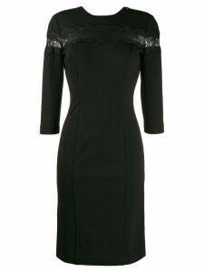 Twin-Set lace panel dress - Black