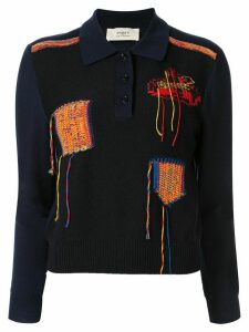 Ports 1961 knitted polo shirt - Blue