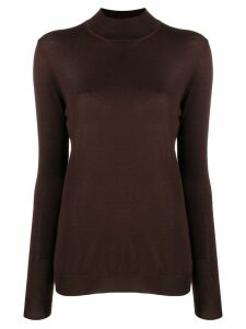Tom Ford high-neck knit top - Brown