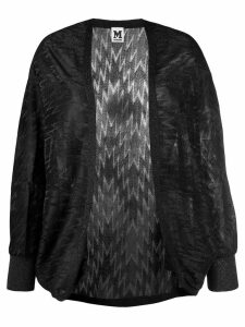 M Missoni metallized zigzag cardigan - Black