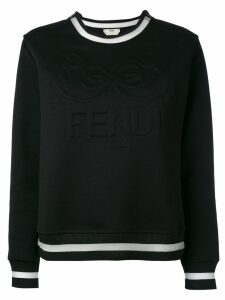 Fendi embossed logo sweatshirt - Black