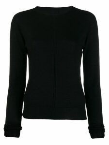Rick Owens cashmere knitted sweatshirt - Black