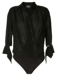 Elisabetta Franchi wrap blouse body - Black