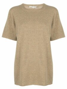 Extreme Cashmere short sleeved knit top - NEUTRALS