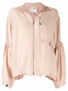 3.1 Phillip Lim Anorak with Cinched Sleeves - PINK