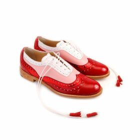 ABO - Red Pink & White Dolly Brogues