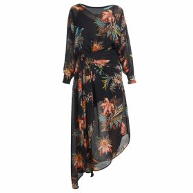 GISY - Story Asymmetric Shirt Dress Jacobean Floral