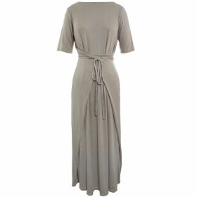 HASANOVA - Champagne All Over Sequin Wrap Blouse