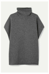Joseph - Wool And Cashmere-blend Turtleneck Poncho - Gray