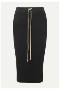 Rick Owens - Draped Cotton-jersey Midi Skirt - Black