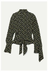 Petar Petrov - Open-back Polka-dot Silk-crepe Blouse - Black