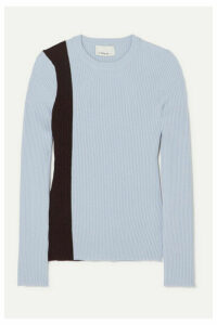 3.1 Phillip Lim - Striped Ribbed Stretch Wool-blend Sweater - Mint