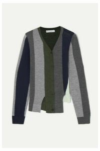 JW Anderson - Asymmetric Paneled Wool Cardigan - Navy