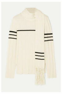 JW Anderson - Tasseled Draped Wool And Cashmere-blend Sweater - White
