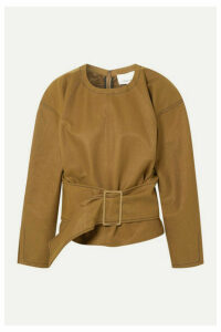 3.1 Phillip Lim - Belted Twill Blouse - Brown